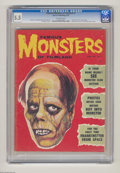 """Magazines:Horror, Famous Monsters of Filmland #3 (Warren, 1959) CGC FN- 5.5 Off-white pages. """"You Axed For It"""" page begins. Previews of upcomi..."""