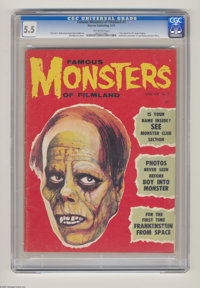 "Famous Monsters of Filmland #3 (Warren, 1959) CGC FN- 5.5 Off-white pages. ""You Axed For It"" page begins. Prev..."