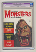 Magazines:Horror, Famous Monsters of Filmland #6 (Warren, 1960) CGC Apparent FN- 5.5 Slight (A) Cream to off-white pages. King Kong article an...