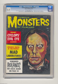 """Famous Monsters of Filmland #7 (Warren, 1960) CGC VG/FN 5.0 Off-white to white pages. """"Dr. Cyclops"""" movie prev..."""