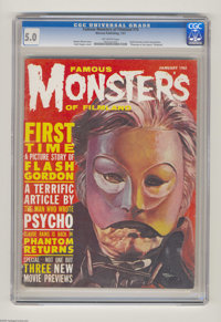 "Famous Monsters of Filmland #10 (Warren, 1961) CGC VG/FN 5.0 Off-white pages. Flash Gordon article and photos. ""Pha..."