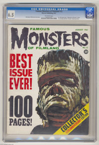 """Famous Monsters of Filmland #13 (Warren, 1961) CGC FN+ 6.5 Off-white pages. First 100-page issue. """"Monsters in Revi..."""
