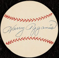 Autographs:Index Cards, 1950s Harry Agganis Signed Baseball Cut....