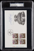 Hockey Collectibles:Others, Signed John Beliveau 1993 100th Anniversary of Stanley Cup FDC PSA/DNA Authentic. ...