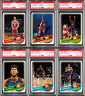 Autographs:Sports Cards, Signed 1979-80 Topps Basketball Complete Set (131) With Maravich. ...