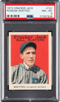 Baseball Cards:Singles (Pre-1930), 1915 Cracker Jack Possum Whitted #151 PSA NM-MT 8 - Only Three Higher. ...