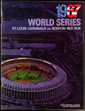 Baseball Collectibles:Programs, 1967 World Series Program - Red Sox vs. Cardinals - Signed by Lou Brock....
