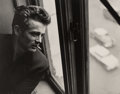 Photographs:Gelatin Silver, Roy Schatt (American, 1909-2002). James Dean in Window with Cigarette, ABC Studios, New York City, 1954. Gelatin silver,...
