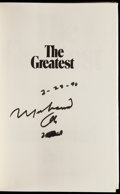 Boxing Collectibles:Autographs, Muhammad Ali The Greatest Signed Book. ...