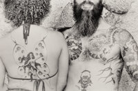 Burk Uzzle (American, b. 1938) Untitled (Tattooed Couple) Gelatin silver 7-7/8 x 11-3/4 inches (2