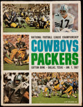 Football Collectibles:Programs, 1966 NFL Championship Game Program - Packers vs. Cowboys....
