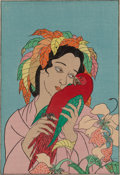 Works on Paper, A Group of Four Paul Jacoulet Woodblock Prints, Karuizawa, Japan, 20th century. Marks: Paul Jacoulet, (various). 6 x 4-1... (Total: 4 Items)