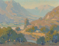 Orrin White (American, 1883-1969) Peaceful valley Oil on canvas 14 x 18 inches (35.6 x 45.7 cm)