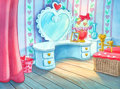 Animation Art:Painted cel background, I Love the Chipmunks Valentine Special Commercial BumperProduction Background (Ruby-Spears/Bagdasarian Productions, 1...