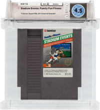Stadium Events: Family Fun Fitness (NES, Bandai, 1987) Wata 4.5 Loose (Cartridge)