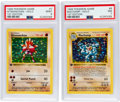 Memorabilia:Trading Cards, Pokémon Hitmonchan #7 and Machamp #8 First Edition Base Set RareHologram Trading Card Group (1999) PSA Graded.... (Total: 2 Items)