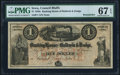 Obsoletes By State:Iowa, Council Bluffs, IA- Banking House of Baldwin & Dodge $1 185_Remainder PMG Superb Gem Unc 67 EPQ.. ...