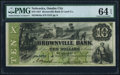 Obsoletes By State:Nebraska, Omaha City, NE (Terr)- Brownville Bank and Land Company $10 Sep. 1, 1857 G6c PMG Choice Uncirculated 64 EPQ.. ...