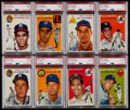 Autographs:Bats, 1954 Topps Baseball Near Set (181/250) Plus Eight Sports Illustrated Cards. ...