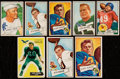 Football Cards:Lots, 1951-54 Bowman Football Collection (66) With Stars....