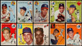 Baseball Cards:Lots, 1954 Topps Baseball Collection (66) With Stars. ...