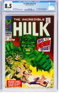 The Incredible Hulk #102 (Marvel, 1968) CGC VF+ 8.5 White pages