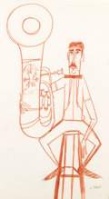 Animation Art:Concept Art, Toot, Whistle, Plunk and Boom Concept Drawing Original Art(Walt Disney, 1953)....