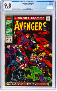The Avengers Annual #2 (Marvel, 1968) CGC NM/MT 9.8 Off-white to white pages