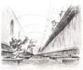 Animation Art:Concept Art, Oliver and Company Concept Drawing and Print Group of 2 (Walt Disney, 1988)....