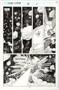 Original Comic Art:Panel Pages, Ron Lim and Tom Christopher Silver Surfer #79 Story Page 11 Original Art (Marvel, 1993)....