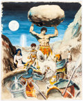 Original Comic Art:Paintings, Wally Wood The King of the World Wizard King Cover Preliminary Painting Original Art (c. 1978)....
