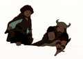 Animation Art:Production Cel, The Lord of the Rings Frodo, Aragorn and Boromir ProductionCel and Animation Drawing (Ralph Bakshi, 19...