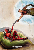 "Movie Posters:Action, Deadpool 2 (20th Century Fox, 2018) Rolled, Near Mint. One Sheet (27"" X 40"") DS, Teaser, Style B. James Goodridge Artwork. A..."