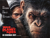 """War for the Planet of the Apes (20th Century Fox, 2017) Rolled, Very Fine-. British Quad (30"""" X 40"""") DS, Advan..."""