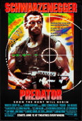 "Movie Posters:Science Fiction, Predator (20th Century Fox, 1987) Rolled, Very Fine+. One Sheet (27"" X 41"") Advance. Science Fiction...."
