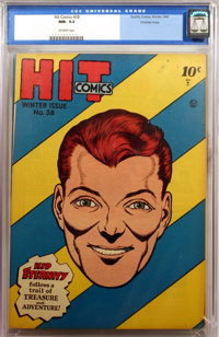 Hit Comics #38 - Crowley Copy (Quality, 1945) CGC NM- 9.2 Off-white pages