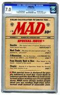 Golden Age (1938-1955):Humor, MAD #12 (EC, 1954) CGC FN/VF 7.0 Off-white to white pages.