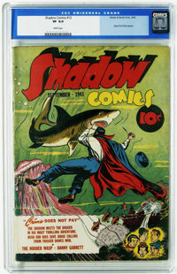 Shadow Comics #12 (Street & Smith, 1941) CGC VF 8.0 White pages