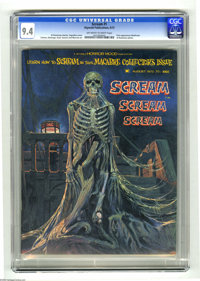 Scream #1 (Skywald, 1973) CGC NM 9.4 Off-white to white pages. Gray Morrow art. First appearance of Nosferatu. Necronomi...