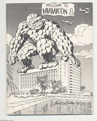 Miamicon #1 Program Book Signed by Jack Kirby, Neal Adams, Stan Lee, and More (1975). This nifty program book from the v...