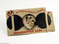 Memorabilia:Comic-Related, Mickey Mouse Club Mouseketeer Ears (Walt Disney Productions, circa 1950s). Straight from the Mickey Mouse Club -- what every...