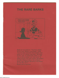 """Rare Barks #nn (Publisher Unknown, 1990) Condition: NM. This is a rare fan-published 7.5"""" x 10.25"""" softcover b..."""