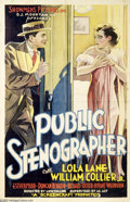 "Memorabilia:Miscellaneous, ""Public Stenographer"" Vintage Movie Poster (1934). Actress Lola Lane starred in the title role in this largely forgotten '30..."