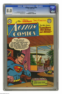 Action Comics #189 (DC, 1954) CGC VF 8.0 Cream to off-white pages. Win Mortimer cover. Curt Swan art. Congo Bill, Tommy...