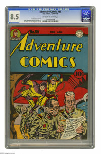 Adventure Comics #95 (DC, 1944) CGC VF+ 8.5 Off-white to white pages. A Simon and Kirby cover no doubt ensured that this...