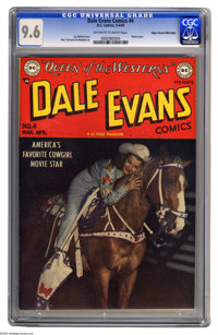 Dale Evans Comics #4 Mile High pedigree (DC, 1949) CGC NM+ 9.6 Off-white to white pages. Westerns may not be a genre you...
