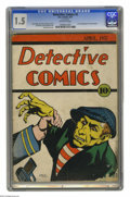 Platinum Age (1897-1937):Miscellaneous, Detective Comics #2 (DC, 1937) CGC FR/GD 1.5 Off-white pages. Ashas been known to happen in the comic world, this #2 issue ...