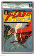 Golden Age (1938-1955):Superhero, Flash Comics #17 Larson pedigree (DC, 1941) CGC Qualified VF/NM 9.0 Off-white to white pages. This copy is from one of the m...