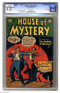 "House of Mystery #3 Aurora pedigree (DC, 1952) CGC VF/NM 9.0 Off-white pages. Decades before Chucky of ""Child's Pla..."