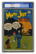 Golden Age (1938-1955):Humor, Mutt and Jeff #36 (DC, 1948) CGC NM- 9.2 Off-white pages. Overstreet 2004 NM- 9.2 value = $90. CGC census 12/04: 1 in 9.2, n...